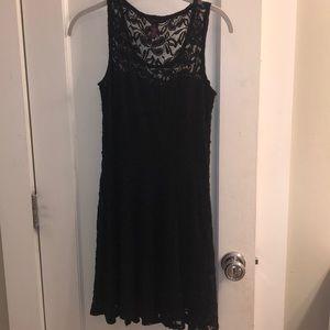 Lace black dress MINI